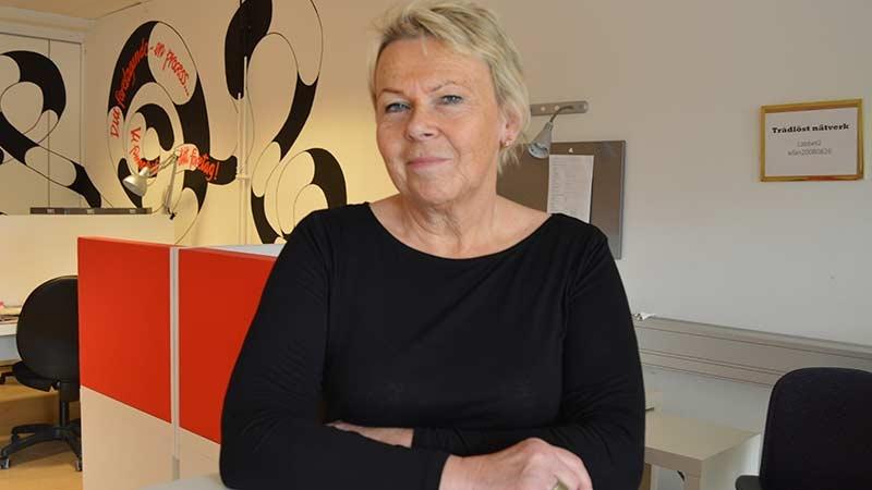 Laila Källman som driver företaget Källsunds konsult AB. Foto taget av Tom Petterson