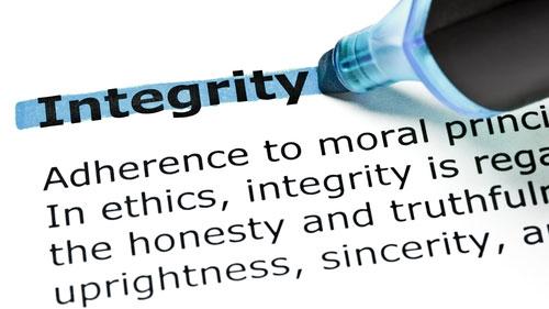 Ordet integritet kommer från latinets integer som betyder hel eller fullständig.