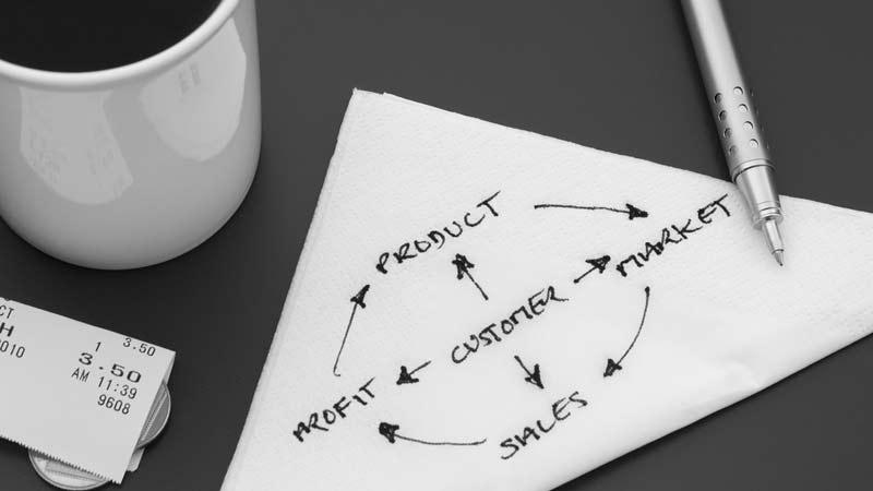 En plan skriven på servett fungerar bra till en början