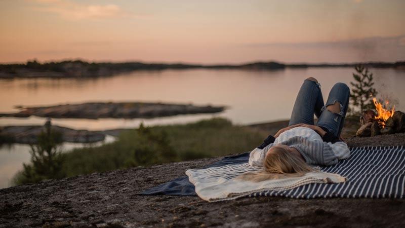 Camping i den finländska skärgården. Samtliga bilder från visitfinland.com