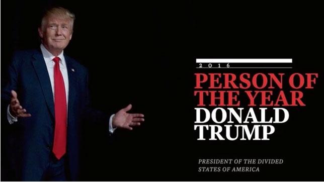 TIME Magazines omslag på Donald Trump, Årets Person 2016