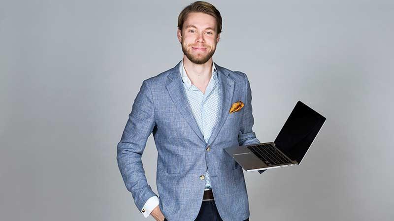 William Larsson, VD på m2finder.com