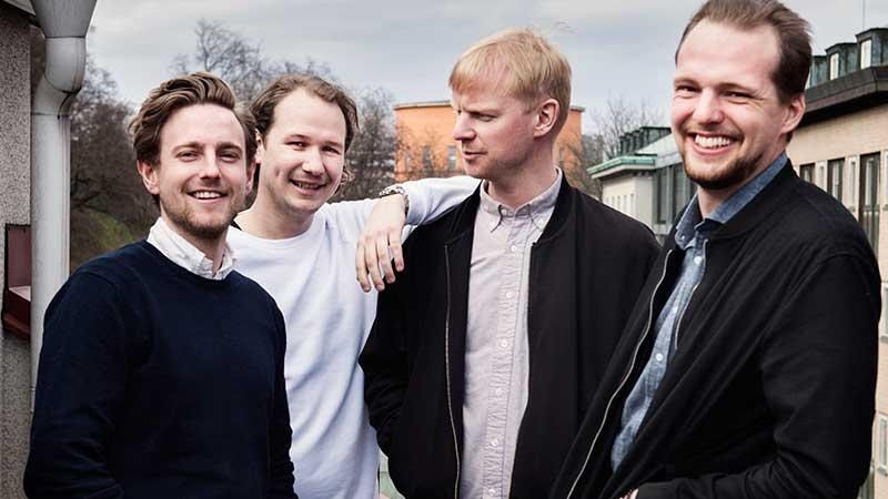 Viktor Broberg, Johan Brunedal, Deniss Karavajev och Leo Sydow bakom företaget BuildSafe