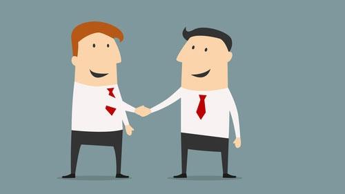 Kompanjonskap inleds mellan två affärsmän