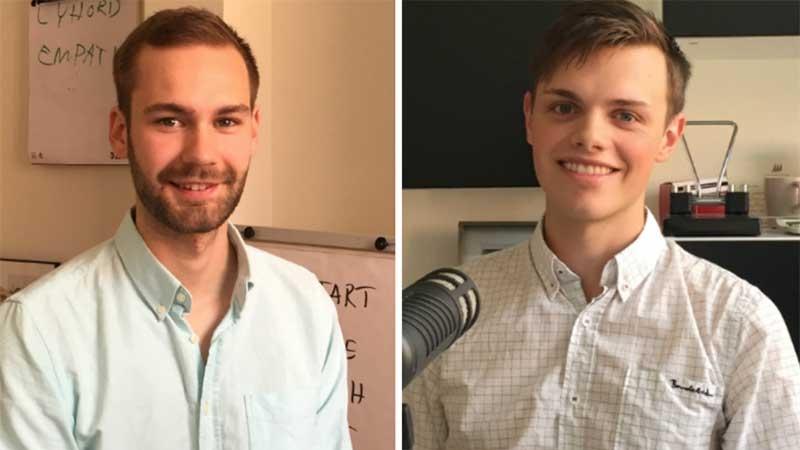 Albin Ljung och Tony Nylander är precis klara med sin utbildning Industriell Ekonomi på Linköpings Universitet.
