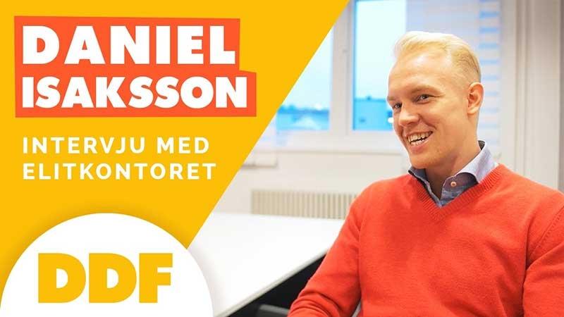 Daniel Isaksson driver coworking-kontorshotellet Elitkontoret
