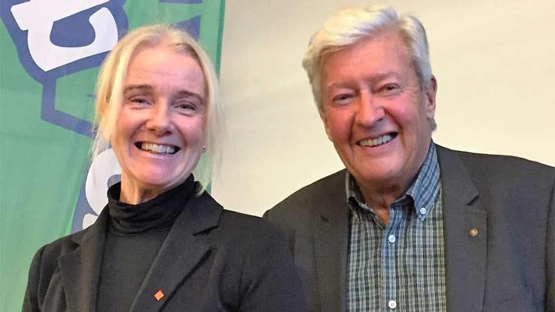 Maria Floxner och Göran Ekdahl från Styrelseakademien