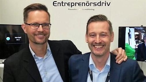Tomas Tränkner och Magnus Johansson som driver podcasten Entreprenörsdriv