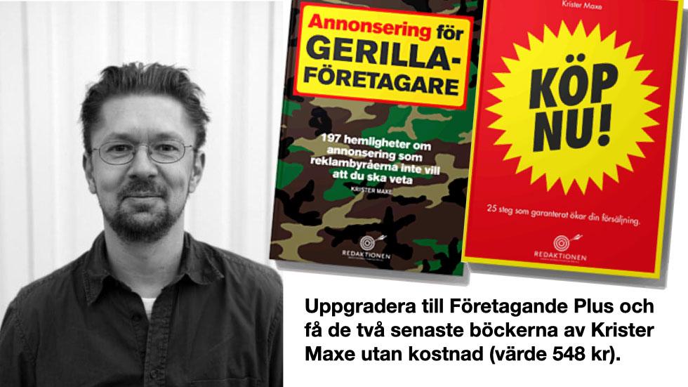 Prova FöretagandePlus och få två böcker av Krister Maxe utan kostnad (värde 548 kr)