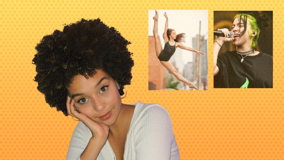 Foto:  bild på 3 låtskrivare-artister – Alisha, Tate (som också dansar) och Billie.