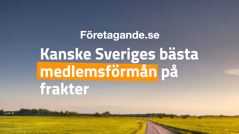 Kanske Sveriges bästa Fraktavtal - passar alla företag som skickar paket och gods