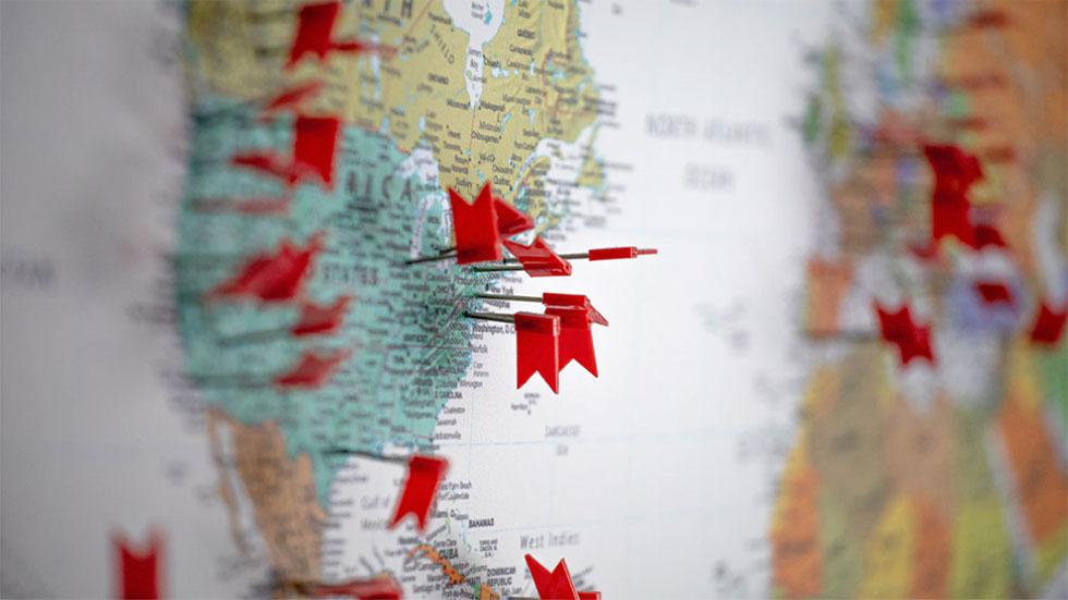 Gör marknadsundersökning och rita upp kartan