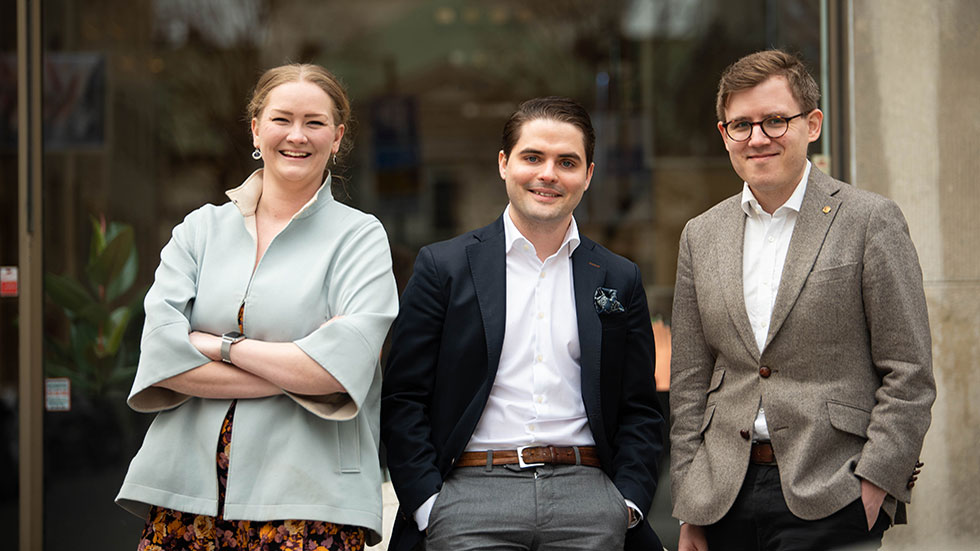 Maria Norberg COO, Fabian Assarsson vd, Johan Lindblad CTO