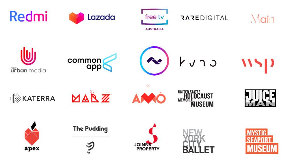 10 hetaste logotyptrenderna under 2020