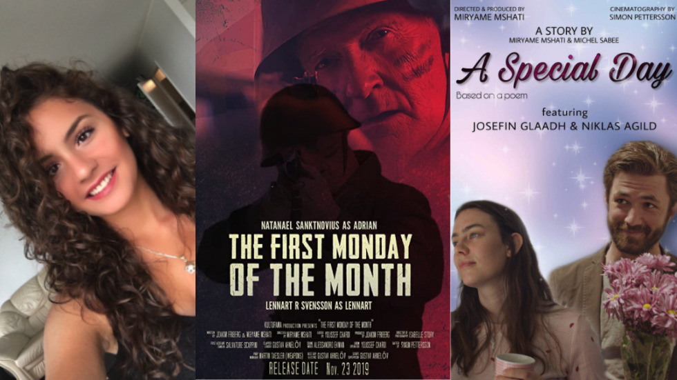 Unga syriska regissören Miryame Mshati vill filma verklighetsbaserade händelser