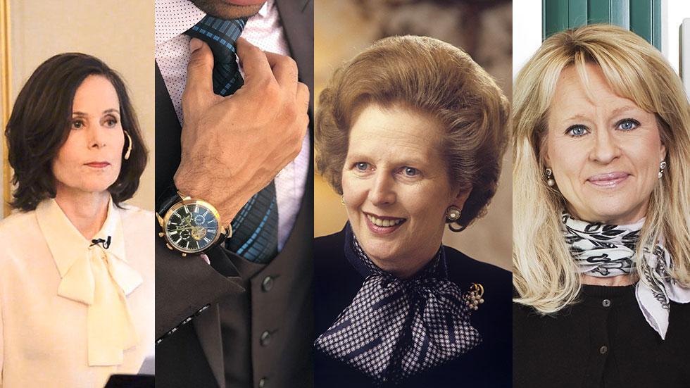 fv. Sara Danius, man med slips, Margaret Thatcher och Annika Falkengren.