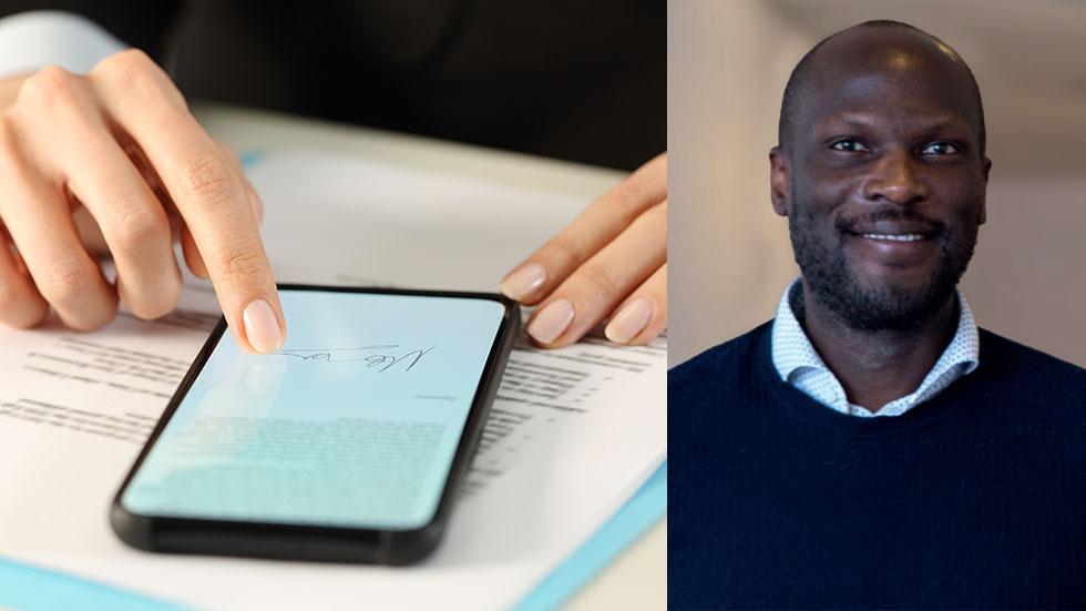 Derek Wamala-Johnson, försäljningschef för FastSign