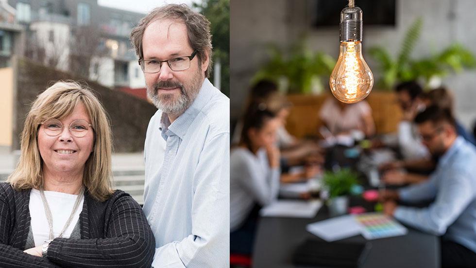 Tina och Joacim Sager, grundarna av MatchMore.